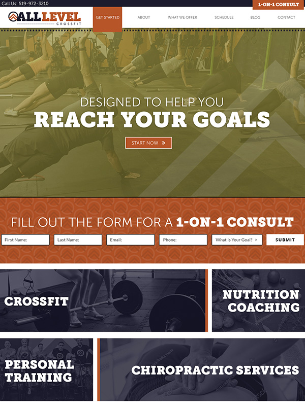 Fitness Website Design And Gym Lead Marketing