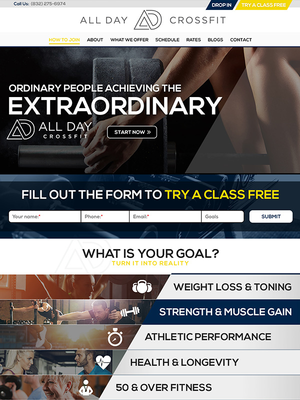 All Day Fitness Social Media Marketing And Fitness Gym Website Design Tips And Tricks