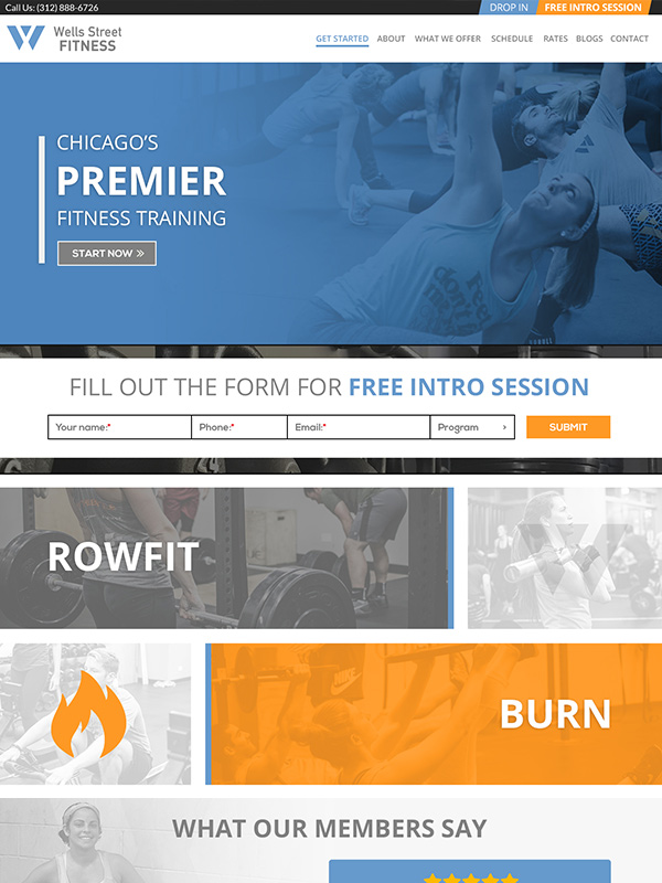 Best Example Of Fitness Gym Website Design Wells Street Fitness Wordpress Site