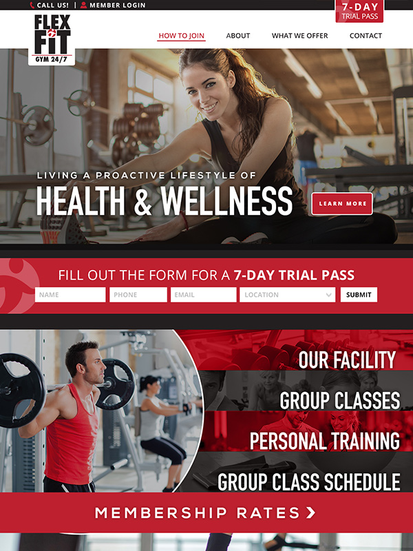 Best Gym Websites Flex Fit Gym WordPress Web Design Theme