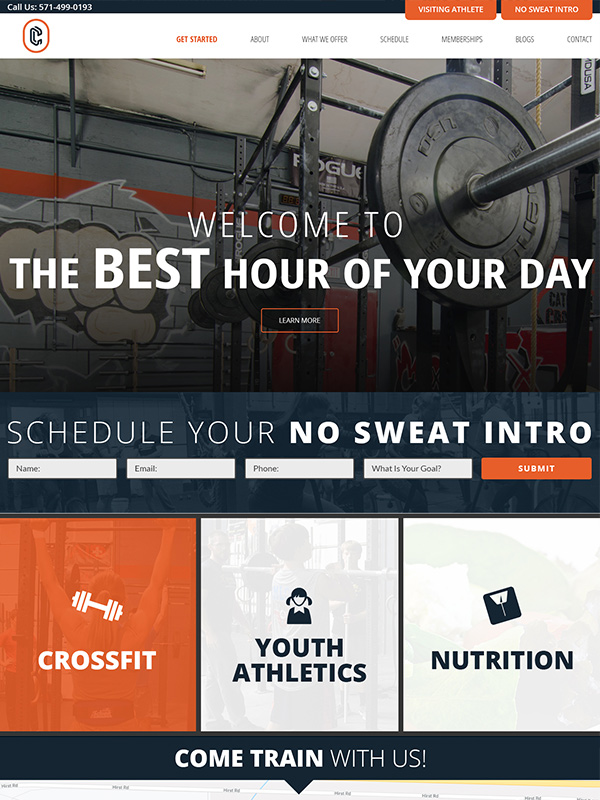 Catoctin Fitness Gym Social Media Marketing And Fitness Website Design