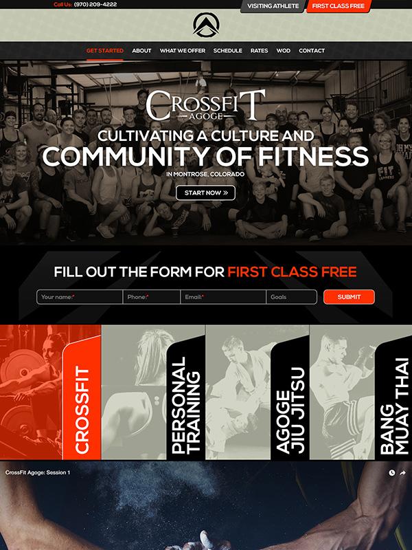 CrossFit Agoge Fitness Gym Wordpress Website Design Winner