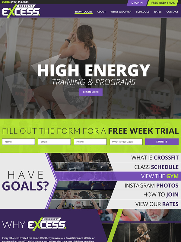 Email Marketing Automation For Fitness Gyms See CrossFit Excess Gym Website Design