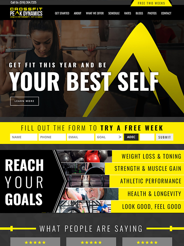 Peak 180 Website Design And Facebook Ad Marketing For Fitness Gyms