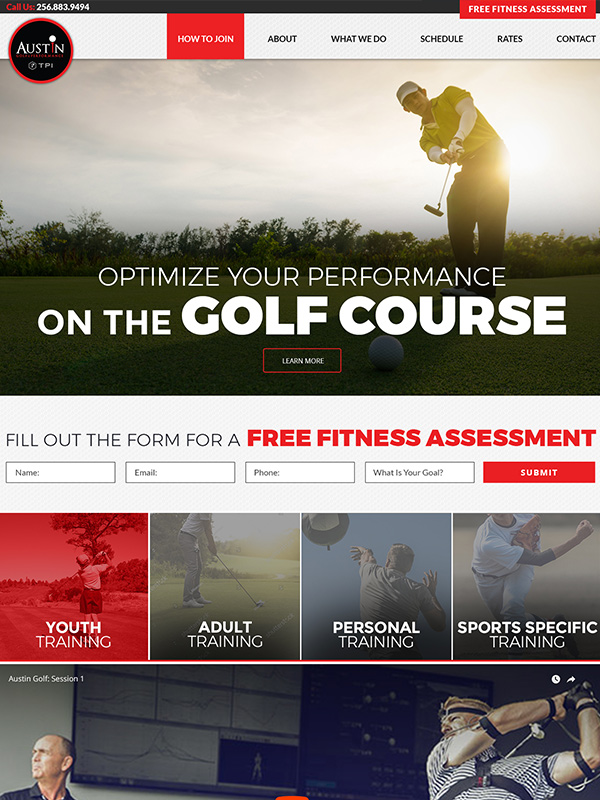 Top Physical Therapy Website Design See Wordpress Website Austin Golf And Performance