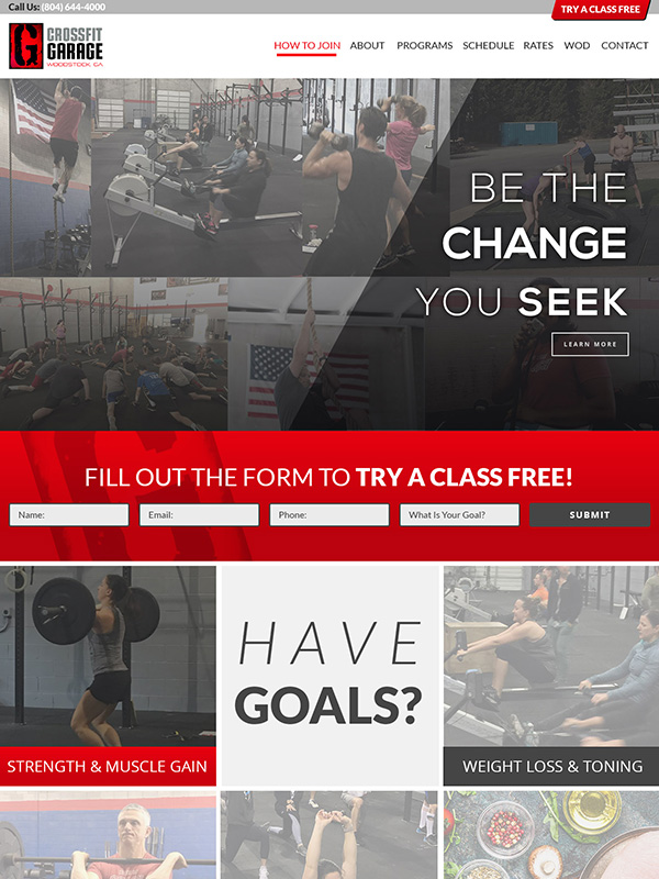 Best CrossFit Fitness Gym Website Design CrossFit Garage
