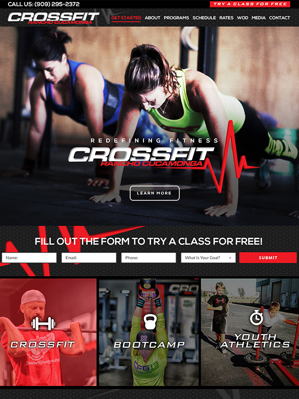 Rancho Cucamonga CrossFit Gym Website Design And Instagram Ad Marketing