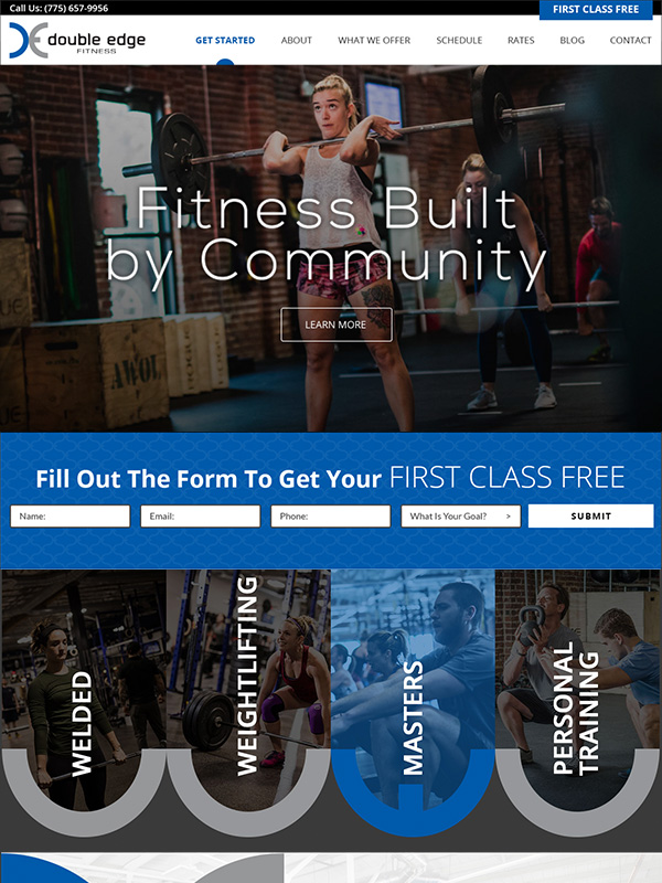 Double Edge Fitness Website Design And Lead Generation Search Engine Optimization