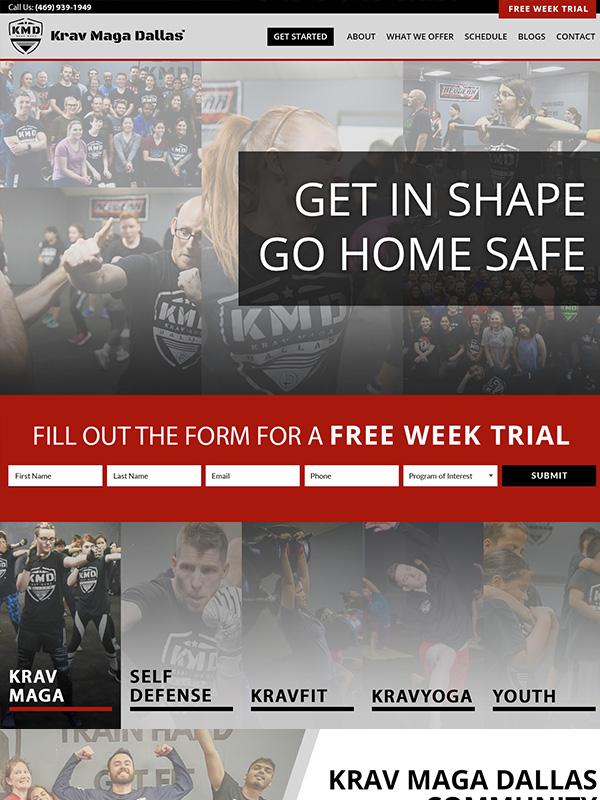 Krav Maga Website Design And Lead Generation Marketing