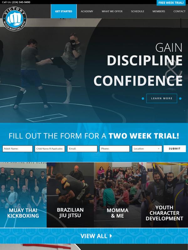 Victory Martial Arts Website Design